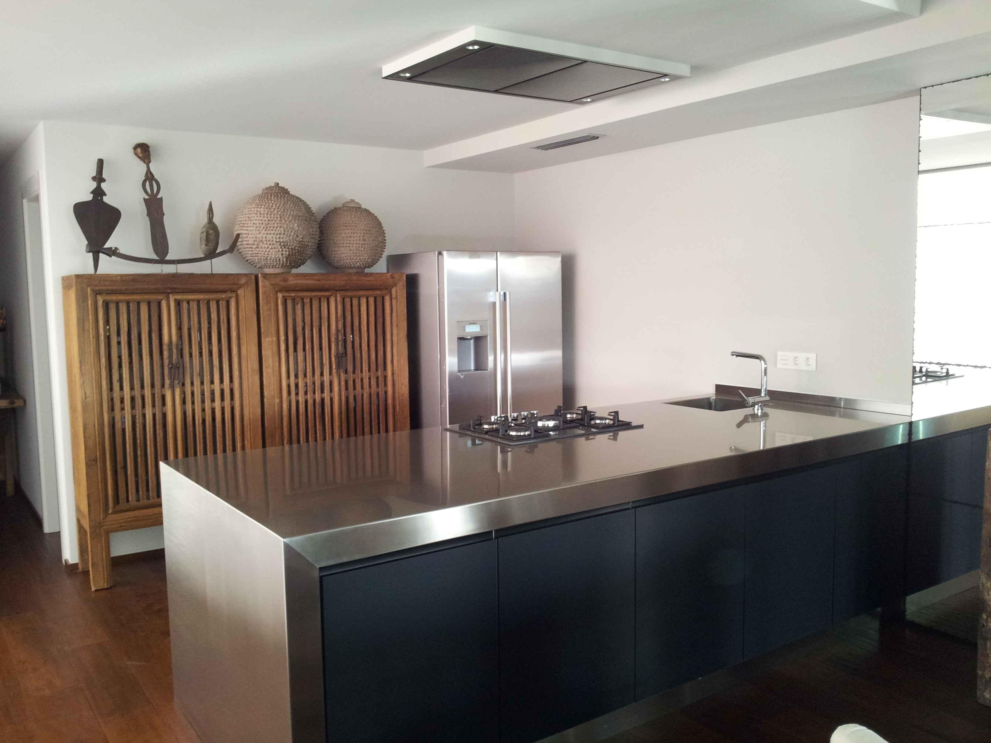 Bancada de cocina de acero coalco reformas e - Bancadas de cocina ...